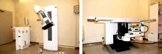 乳腺撮影装置と乳腺バイオプシー装置の写真